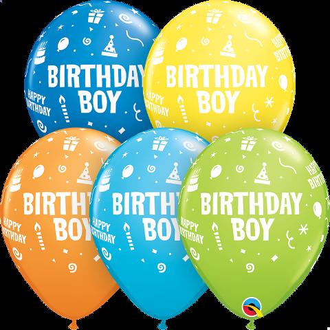 """11"""" birthday boy latex"""