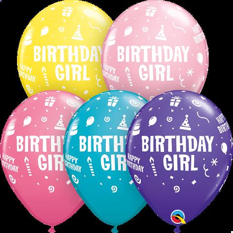 """11"""" birthday girl latex"""