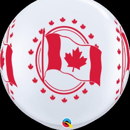 3' Canada Flag White Latex