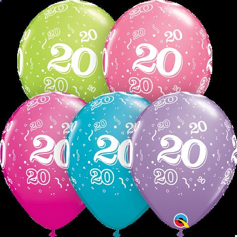 20 th birthday latex