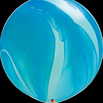 "30"" Giant blue super agate latex"