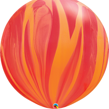 "30"" Giant red orange super agate latex"