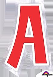 Letter`A` sticker