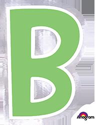 Letter`B` sticker