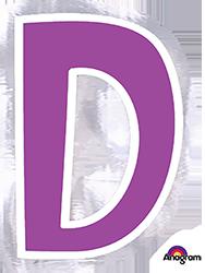 Letter`D` sticker