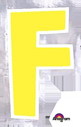 Letter`F` sticker