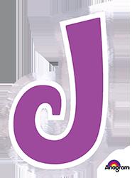Letter`J` sticker
