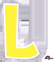 Letter`L' sticker