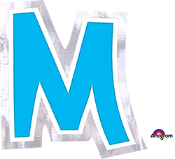 Letter`M` sticker