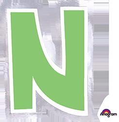 Letter`N` sticker