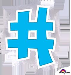 Letter`#` sticker
