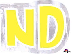 Letter`ND` sticker