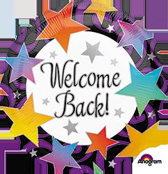 Welcome Back Stars mylar