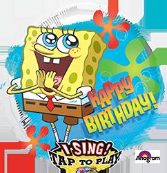 Sponge Bob Birthday singing mylar