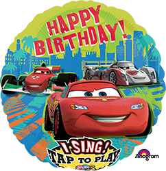 Cars Group Birthday singing mylar