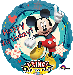 Mickey Club house Birthday singing mylar