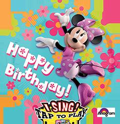 Minnie Mouse Happy Birthday singing mylar