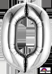 #0 silver mylar