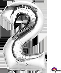 #2 silver mylar