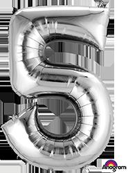 #5 silver mylar