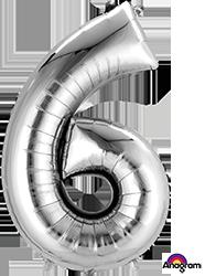 #6 silver mylar