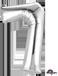 #7 silver mylar