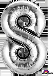 #8 silver mylar