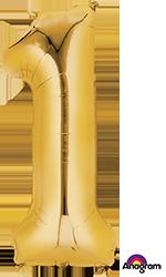 #1 gold mylar