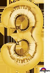 #3 gold mylar