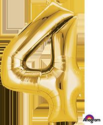 #4 gold mylar