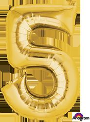 #5 gold mylar