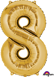 #8 gold mylar