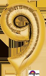 #9 gold mylar