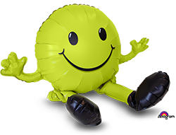 Happy Face Lime Green multi balloons