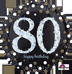 """18"""" Sparkling Birthday 80 mylar"""