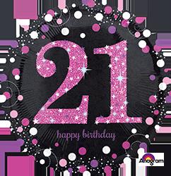 "18"" Pink Celebration 21 mylar"