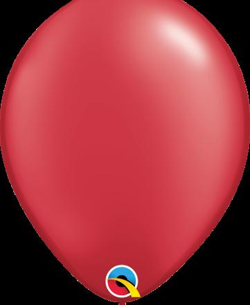 "11"" Pearl Ruby Red Latex"